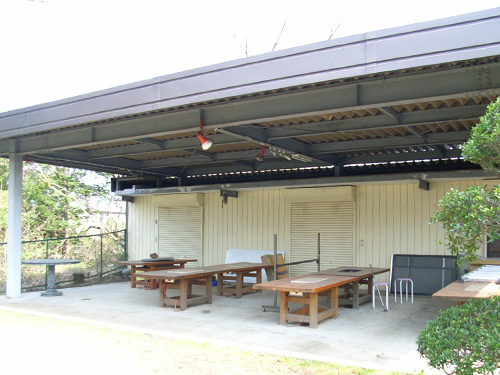 屋根付きバーベキュースペース