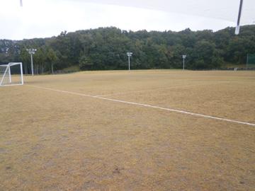 天然芝のサッカーグラウンド(アルビンスポーツパーク)