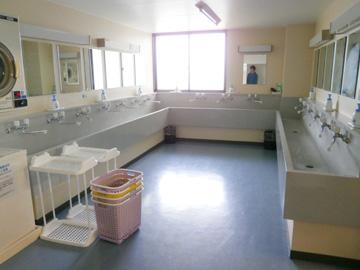 アルビンスポーツパークの洗面所