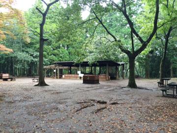 昭和の森フォレストビレッジのバーベキューエリア